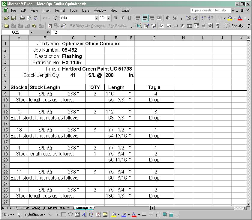 Metalopt 1d optimizer cut list program for Building material list calculator
