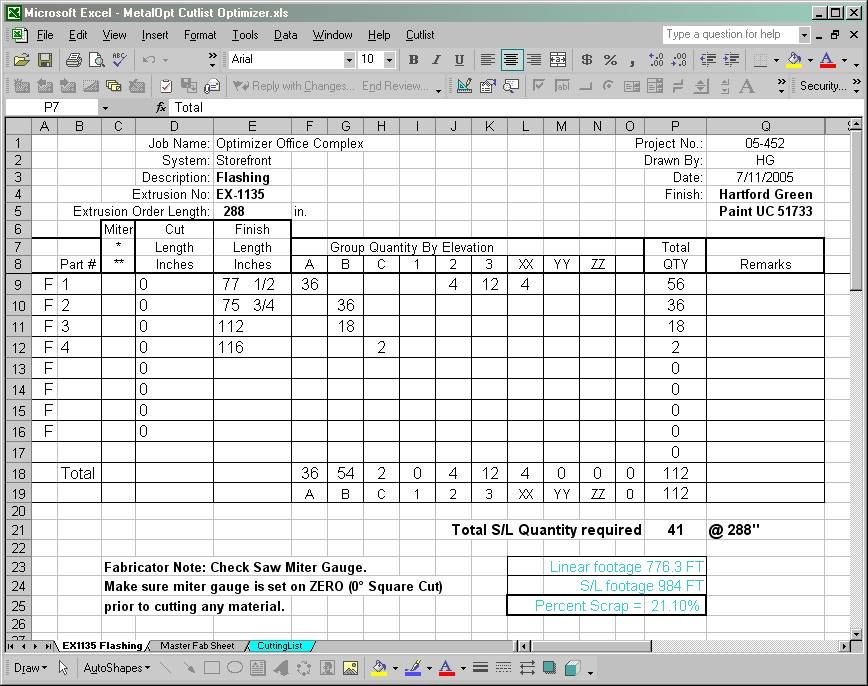 cutting list excel template metalopt 1d optimizer cut list program 146